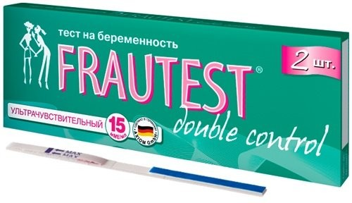 Фраутест тест для определения беременности дабл контроль №2 купить в Москве по цене от 156 рублей