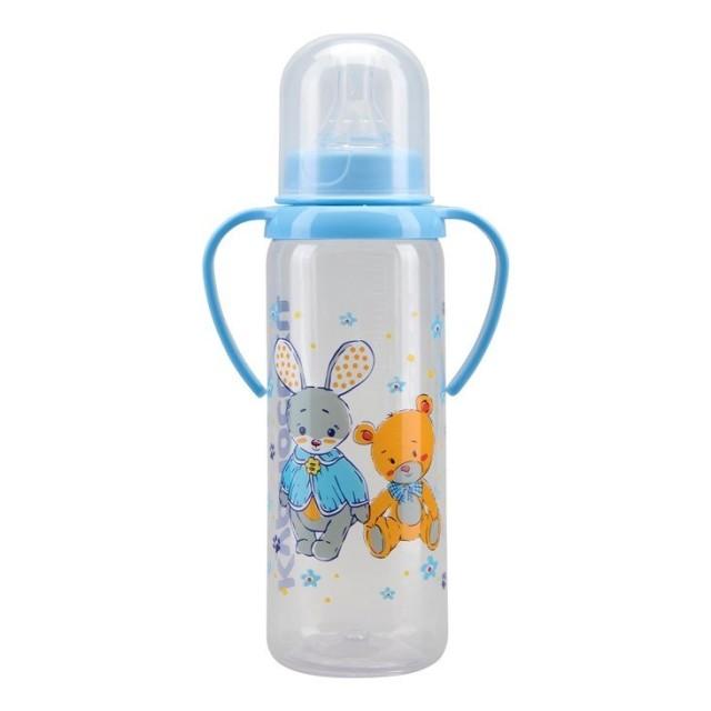 Курносики бутылочка с ручками 250мл+соска силикон 11005 купить в Москве по цене от 143 рублей