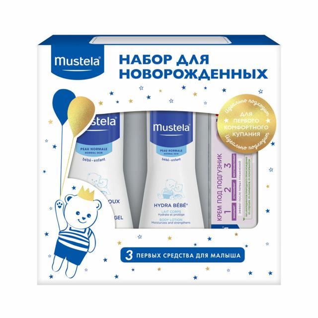 Мустела Бебе набор вода очищающая 100мл+крем для тела Гидра 100мл+гель для мытья 100мл+крем под подгузник 50мл купить в Москве по цене от 0 рублей