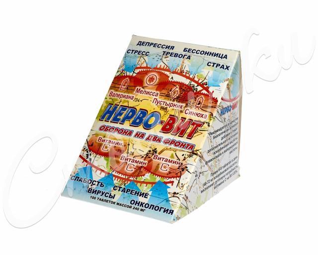 Нерво-Вит таблетки 240мг №100 купить в Москве по цене от 377 рублей