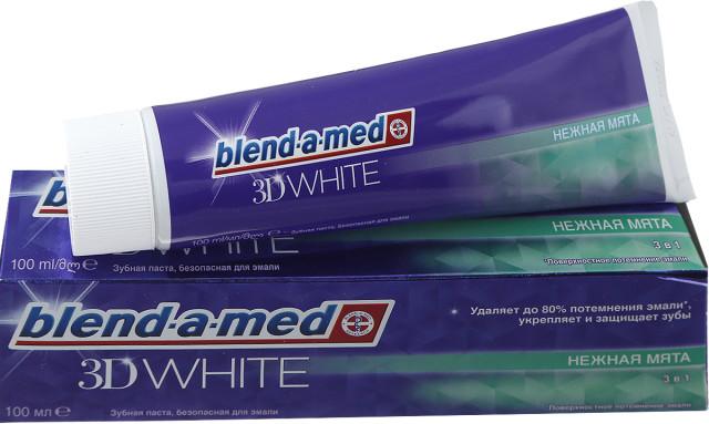 Бленд-а-Мед зубная паста 3Д Уайт Нежн.мята 100мл купить в Москве по цене от 0 рублей