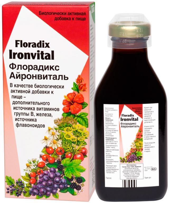Флорадикс Айронвиталь жидкий внутрь 250мл купить в Москве по цене от 896 рублей
