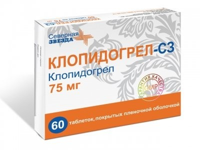 Клопидогрел СЗ таблетки 75мг №60 купить в Москве по цене от 809.5 рублей