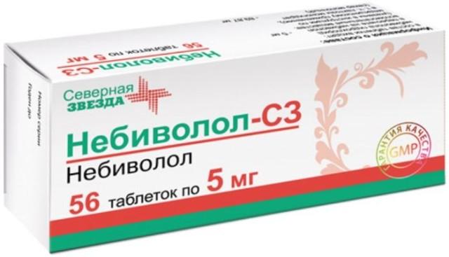 Небиволол СЗ таблетки 5мг №56 купить в Москве по цене от 458 рублей