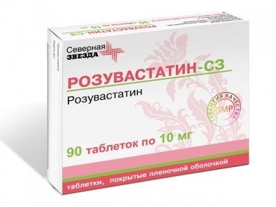 Розувастатин СЗ таблетки п.о 10мг №90 купить в Москве по цене от 718 рублей