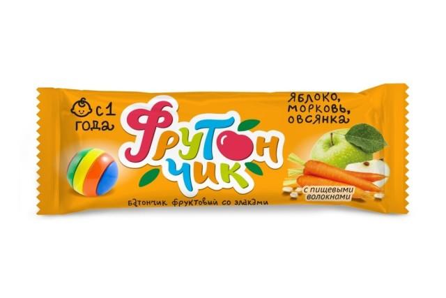 Фрутончик батончик Яблоко/морковь/овсянка 20г купить в Москве по цене от 0 рублей