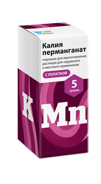 ПКУ Калия перманганат порошок с лопаткой 5г купить в Москве по цене от 73 рублей