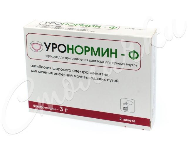 Уронормин-Ф гранулы для приготовления раствора 3г №2 купить в Москве по цене от 823 рублей