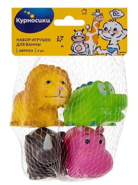 Курносики игрушка для ванной Африка 25031 купить в Москве по цене от 402 рублей