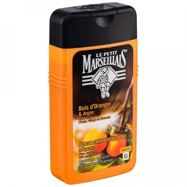 Ле Петит Марсельез гель для душа для мужчин апельсин/аргана 250мл купить в Москве по цене от 0 рублей