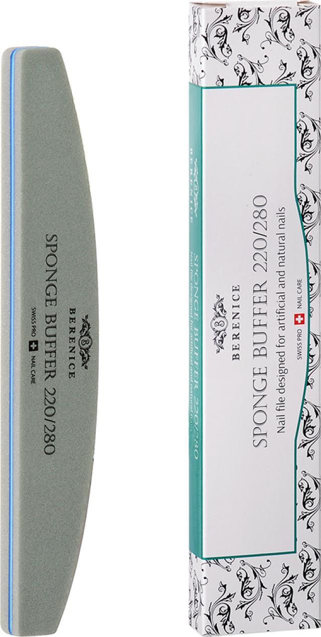 Беренис Пилка для ногтей полумесяц Спонж бафф 220х280 купить в Москве по цене от 0 рублей