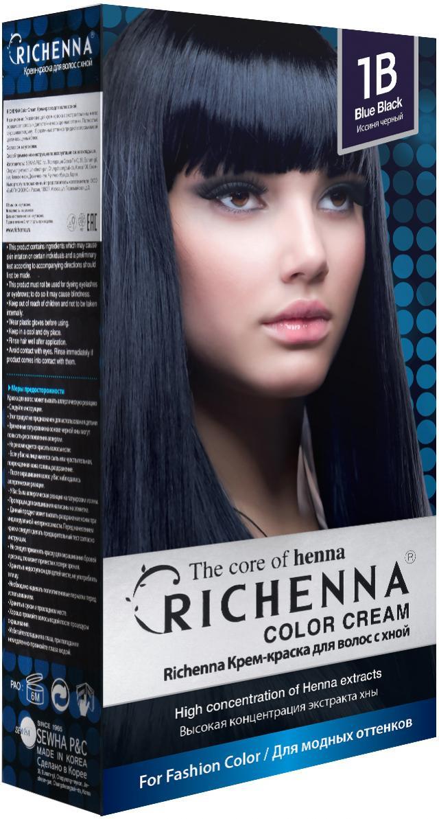 Риченна крем-краска для волос с хной т.1B купить в Москве по цене от 0 рублей