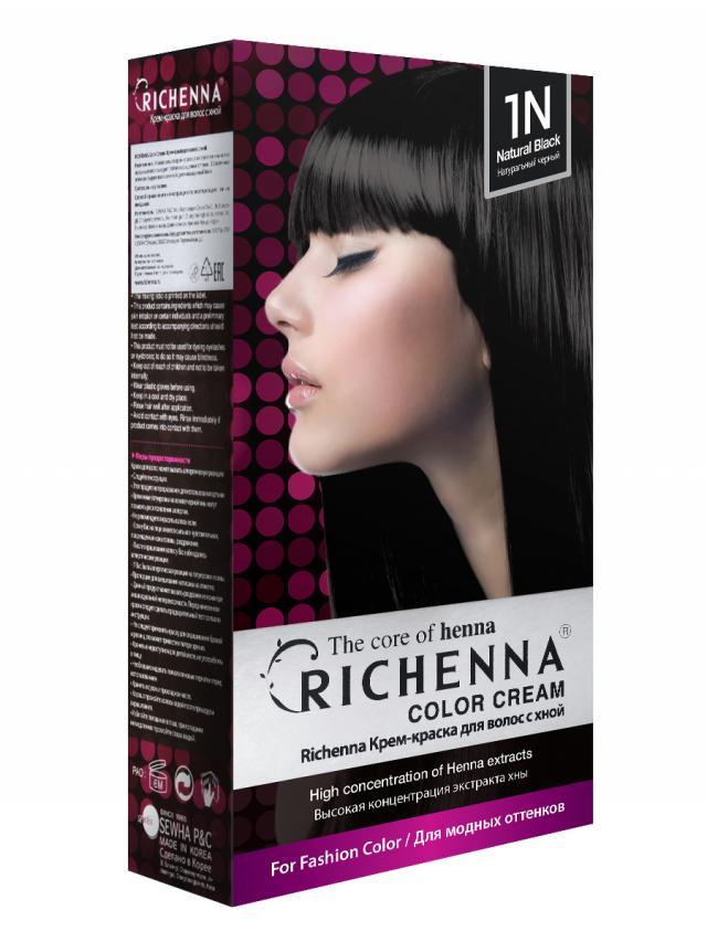 Риченна крем-краска для волос с хной т.1N купить в Москве по цене от 0 рублей