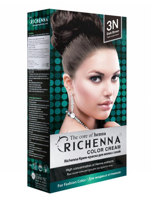 Риченна крем-краска для волос с хной т.3N купить в Москве по цене от 0 рублей