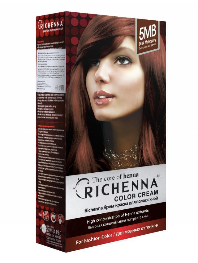 Риченна крем-краска для волос с хной т.5MB купить в Москве по цене от 0 рублей
