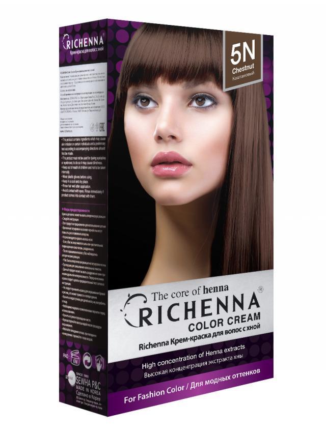 Риченна крем-краска для волос с хной т.5N купить в Москве по цене от 0 рублей