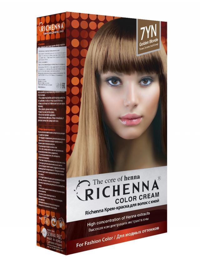 Риченна крем-краска для волос с хной т.7YN купить в Москве по цене от 0 рублей
