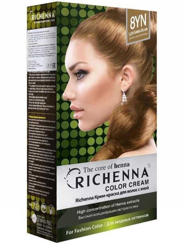 Риченна крем-краска для волос с хной т.8YN купить в Москве по цене от 0 рублей