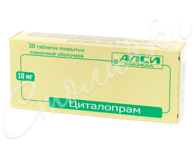 Циталопрам таблетки 10мг №30 купить в Москве по цене от 164 рублей