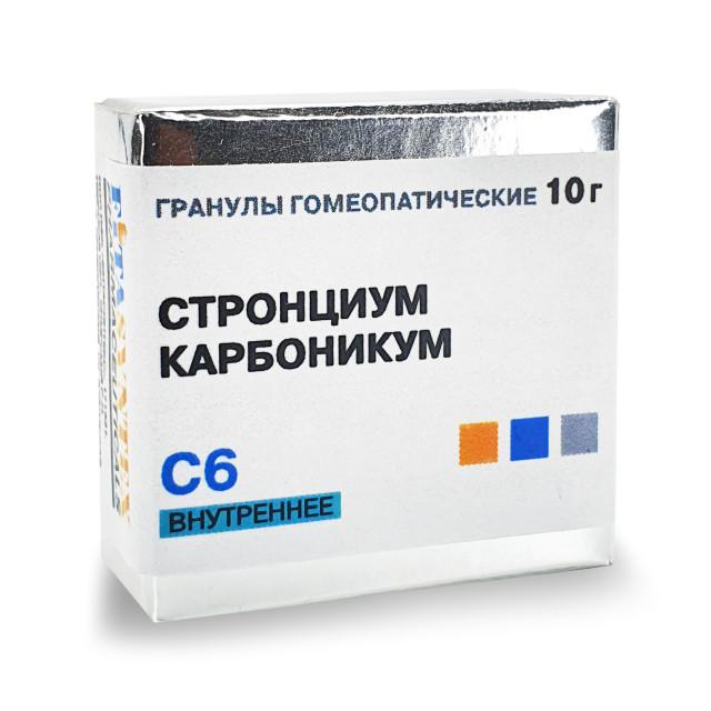 Стронциум Карбоникум С-6 гранулы 10г купить в Москве по цене от 140 рублей