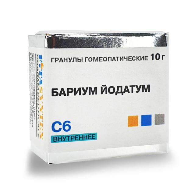 Бариум Йодатум С-6 гранулы 10г купить в Москве по цене от 191 рублей