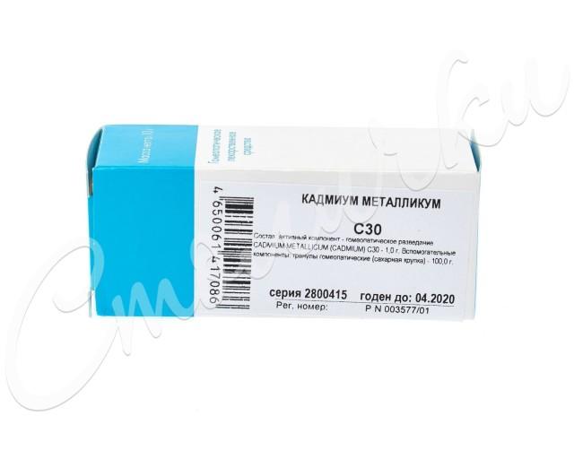 Кадмиум Металликум (Кадмиум) С-30 гранулы 10г купить в Москве по цене от 0 рублей
