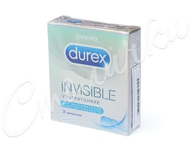 Дюрекс презервативы Invisible (ультратонкие) №3 купить в Москве по цене от 236 рублей