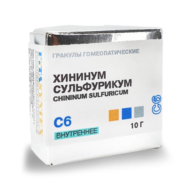 Хининум Сульфурикум С-6 гранулы 10г купить в Москве по цене от 138 рублей