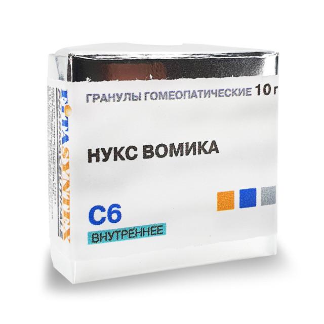 Нукс Вомика (Стрихнос) С-6 гранулы 10г купить в Москве по цене от 191 рублей