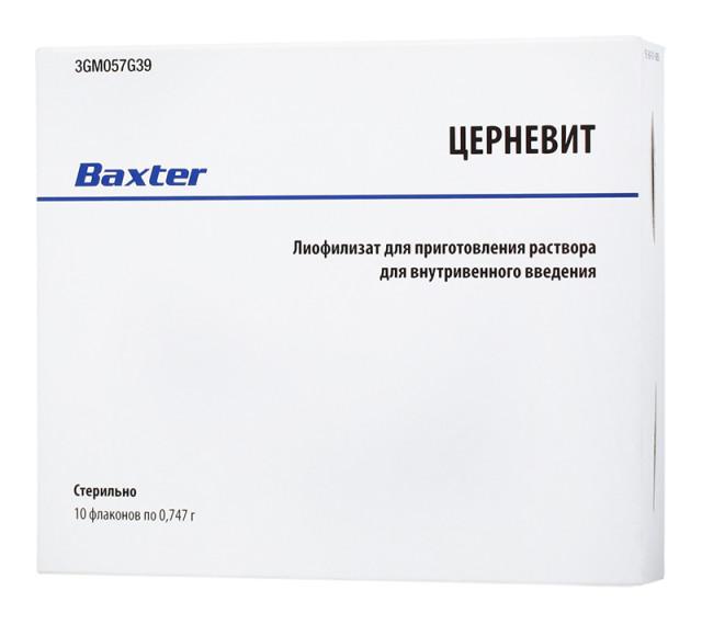 Церневит лиофилизат для приготовления раствора внутривенно 747мг №10 купить в Москве по цене от 3060 рублей