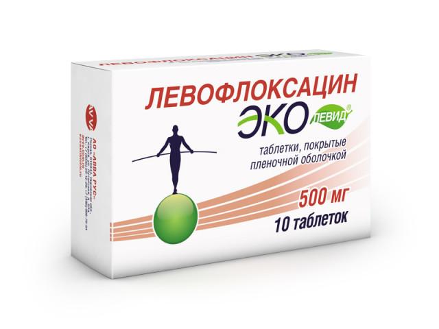 Левофлоксацин Эколевид таблетки п.о 500мг №10 купить в Москве по цене от 0 рублей