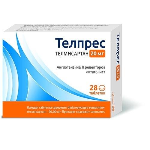 Телпрес таблетки 20мг №28 купить в Москве по цене от 207 рублей