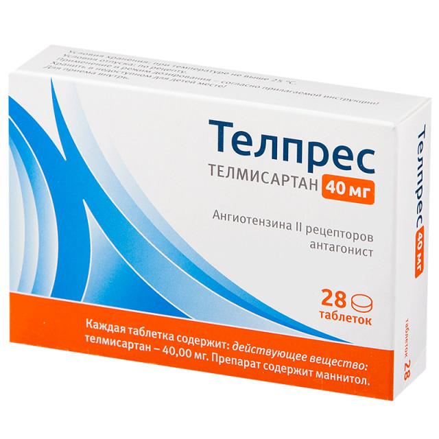 Телпрес таблетки 40мг №28 купить в Москве по цене от 237 рублей
