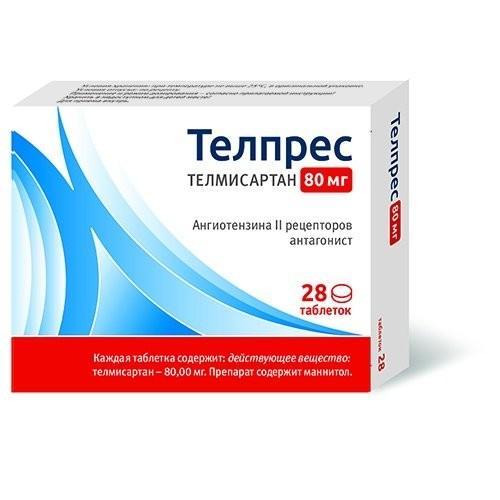 Телпрес таблетки 80мг №28 купить в Москве по цене от 271 рублей