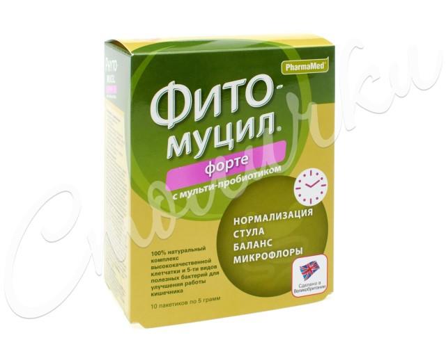 Фитомуцил Сорбент Форте порошок пак. 5г №10 купить в Москве по цене от 493 рублей