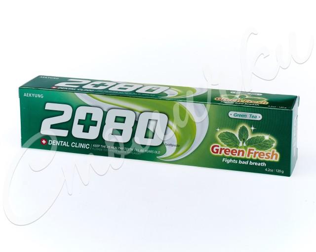 Дентал Клиник 2080 зубная паста зел.чай 120г купить в Москве по цене от 129 рублей