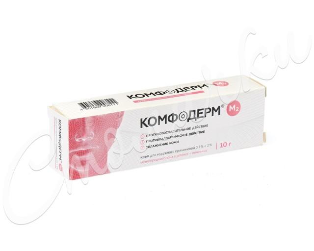 Комфодерм М2 крем 0.1%+2% 10г купить в Москве по цене от 341 рублей