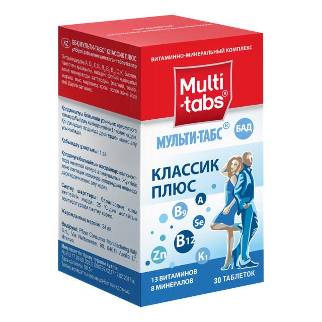 Мульти-табс Классик Плюс таблетки №30 купить в Москве по цене от 471 рублей