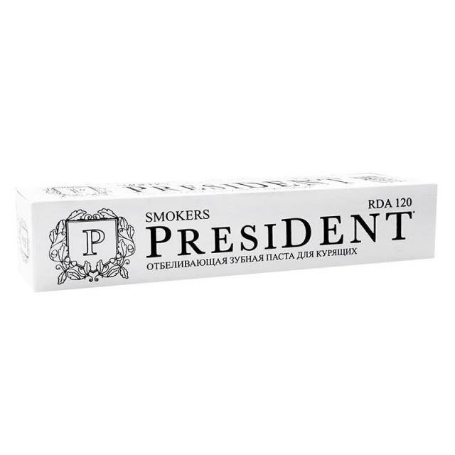 Президент зубная паста Смокерс 75мл купить в Москве по цене от 242 рублей