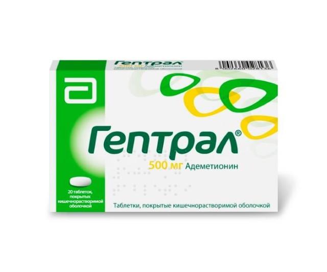 Гептрал таблетки п.о 500мг №20 купить в Москве по цене от 2190 рублей