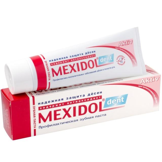 Мексидол Дент зубная паста Актив 100г купить в Москве по цене от 187 рублей