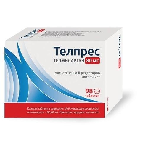 Телпрес таблетки 80мг №98 купить в Москве по цене от 704 рублей