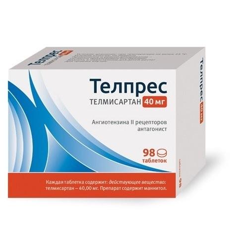 Телпрес таблетки 40мг №98 купить в Москве по цене от 607 рублей