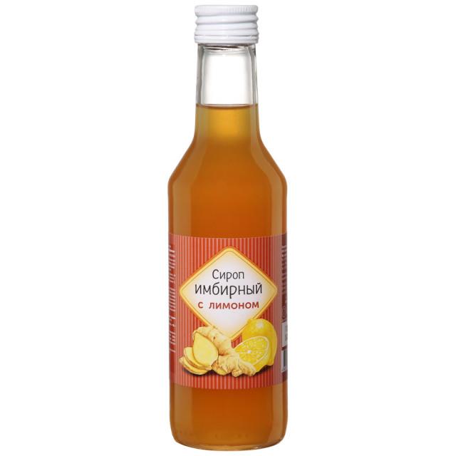 Сироп Имбирный с лимоном на фруктозе 250мл купить в Москве по цене от 103 рублей