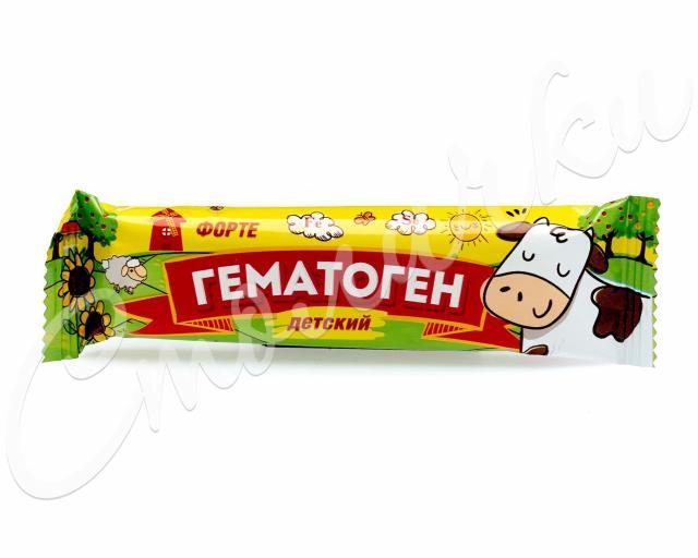 Гематоген Форте Детский 40г купить в Москве по цене от 29 рублей