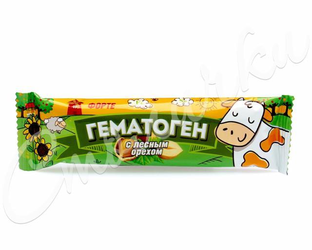 Гематоген Форте с лесным орехом 40г купить в Москве по цене от 39 рублей