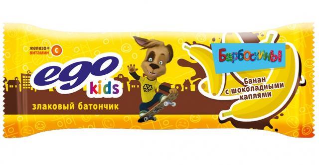Эго Кидс мюсли Банан с шок.каплями и вит. С 25г купить в Москве по цене от 21 рублей