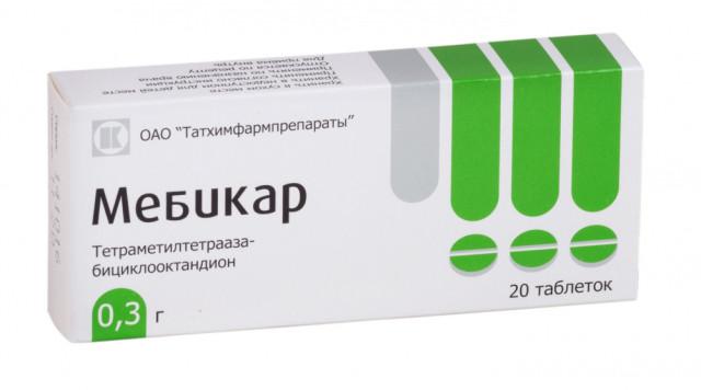 Мебикар таблетки 300мг №20 купить в Москве по цене от 385 рублей