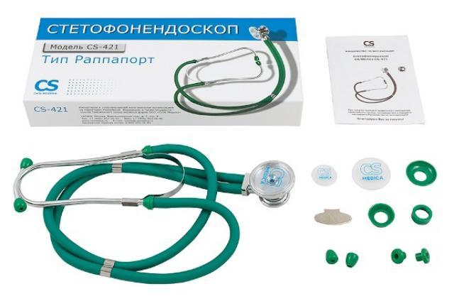 СиЭс Медика стетофонендоскоп CS-421 (зеленый) купить в Москве по цене от 913 рублей
