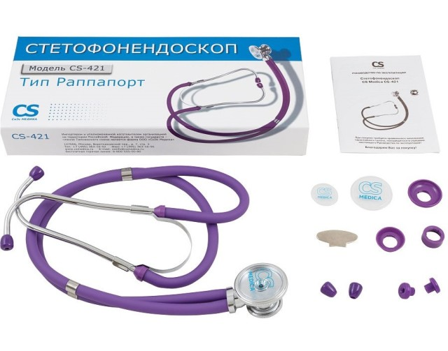СиЭс Медика стетофонендоскоп CS-421 (фиолетовый) купить в Москве по цене от 1020 рублей